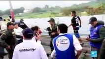 Tensions à l'arrivée de l'aide humanitaire à la frontière entre le Venezuela et la Colombie