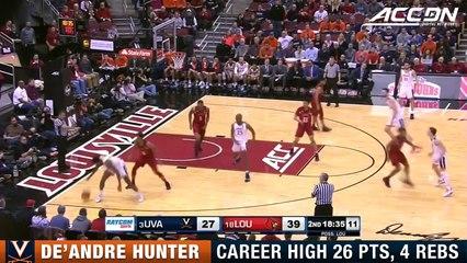 Virginia's De'Andre Hunter Lights Out vs. Louisville