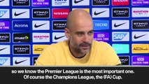 (Subtitled) 'Ask me about quadruple in May' Guardiola