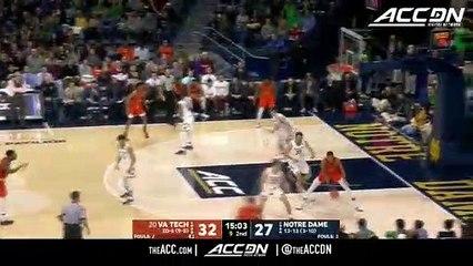 Virginia Tech vs. Notre Dame Basketball Highlights (2018-19)