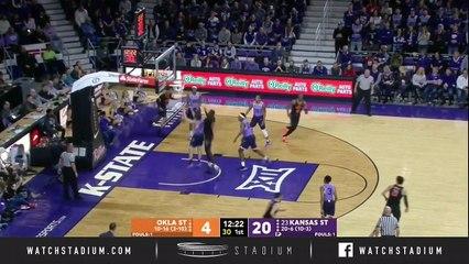Oklahoma State vs. No. 23 Kansas State Basketball Highlights (2018-19)