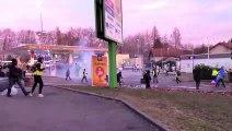 Fin de la manifestation des gilets jaunes à Belfort le 23 février 2019