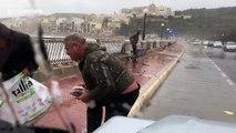 It's raining fish! Men brave raging storm on Malta to pick up fish blown ashore