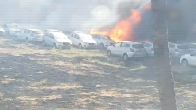 Over 200 cars gutted in Chennai in a parking lot