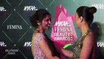 Zareen Khan H0T & Busty In Tight Red Dress At Nykaa Femina Beauty Awards 2019