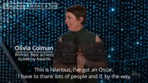 Oscars 2019: Olivia Colman wins best actress award