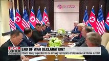 Could Hanoi summit bring Koreas closer to end-of-war declaration?