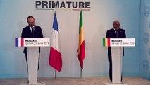 Point presse du Premier ministre, Édouard Philippe et Soumeylou Boubeye Maiga, chef du Gouvernement de la République du Mali