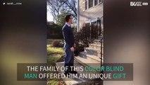 Ce daltonien de 55 ans  découvre enfin les couleurs pour la première fois