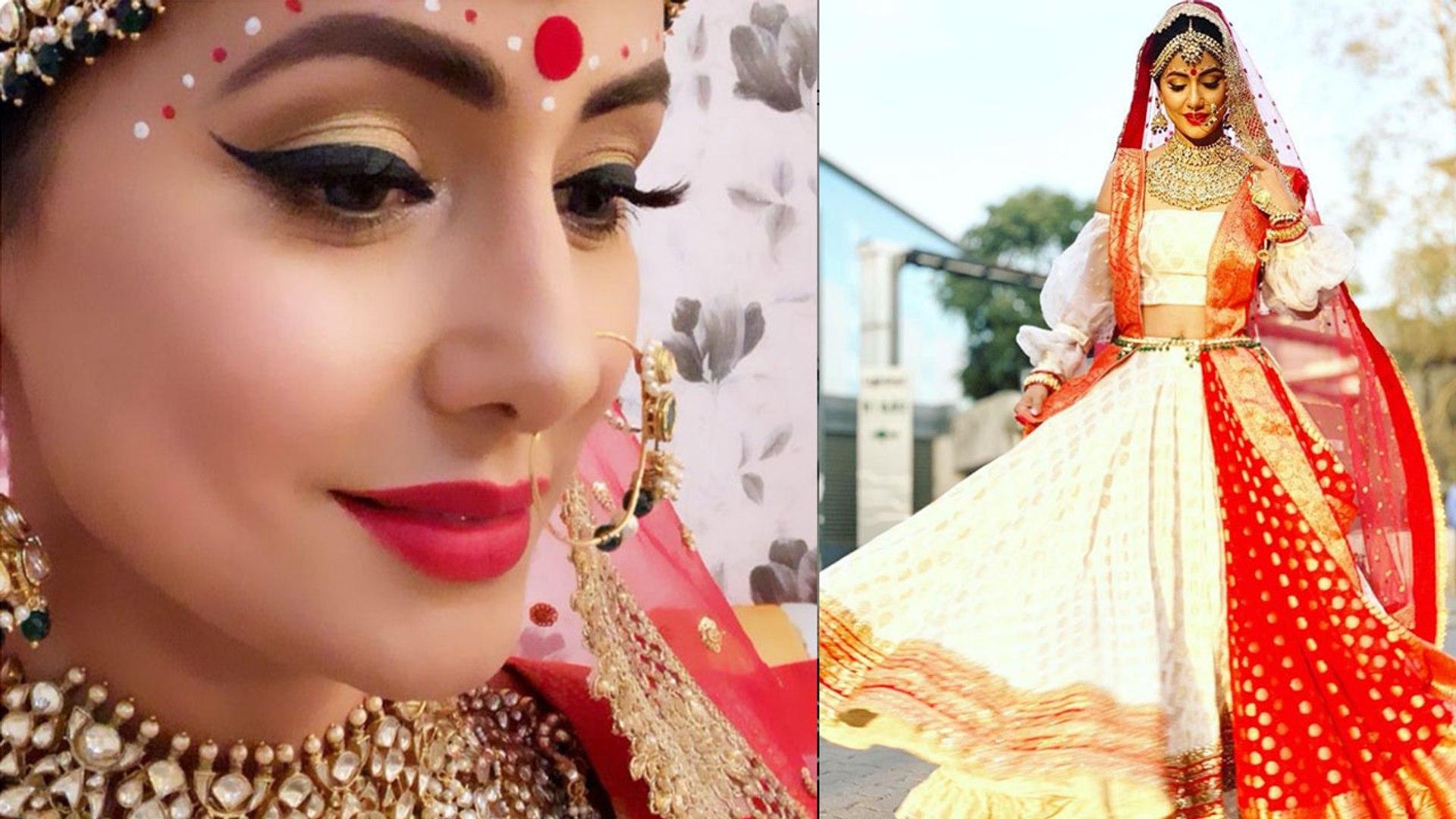 Hina Khan looks beautiful as Bengali BRIDE in Kasauti Zindagi Kay; Check out | FilmiBeat