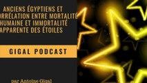Anciens Égyptiens et Corrélation entre mortalité humaine et Immortalité apparente des étoiles