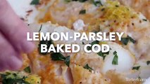 Lemon Parsley Baked Cod