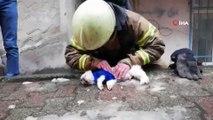 İtfaiyeciden Köpeğe Kalp Masajı ve Suni Teneffüs