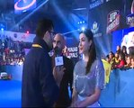 PWL 3 Day 16_ Sahil Khattar along with Co-Anchor speaks over the Pro Wrestling  pro Leage
