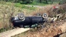 İznik'te Trafik Kazası! Takla Atan Otomobil Tarlaya Uçtu