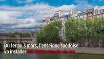 Ikea fait polémique avec ses bains chauds sur les quais de Seine