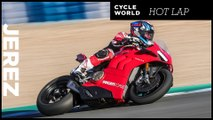 Circuito de Jerez on the 2019 Ducati Panigale V4 R - Cycle World Hot Lap