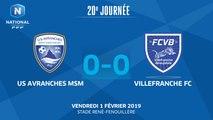 J20 : US Avranches MSM - Villefranche FC (0-0), le résumé