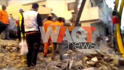 3 killed, dozens trapped in Pakistan's Karachi building collapse