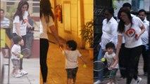 Taimur Ali Khan plays badminton with mommy, Kareena Kapoor Khan in casuals | Boldsky