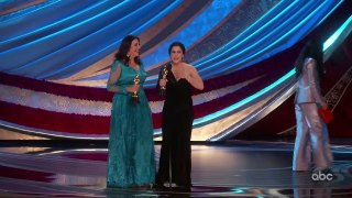 PERIOD. END OF SENTENCE Accepts the Oscar for Documentary (Short Subject)