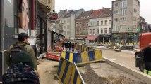 Ixelles, place Fernand Coq - Des travaux qui pèsent sur les commerces (vidéo Germani)