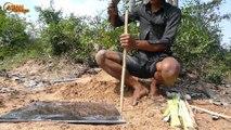 Easy Crocodile Trap - Build Deep Hole Underground Using Paiute Deadfall Trap & Eggs That Work 100%