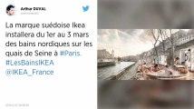 Paris. Des bains chauds installés par Ikea sur les quais de Seine font polémique