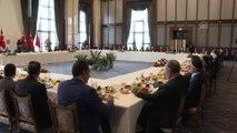 Cumhurbaşkanı Erdoğan, Doğu ve Güneydoğu Anadolu bölgesinden bazı kanaat önderlerini kabul etti (1) - ANKARA