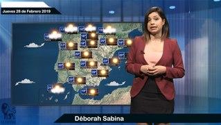 El tiempo pronostico para el jueves 28 de febrero