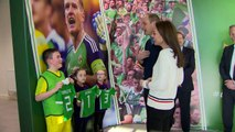Will and Kate received football shirts for young royals