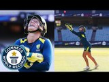 Highest catch of a cricket ball ever! - Guinness World Records