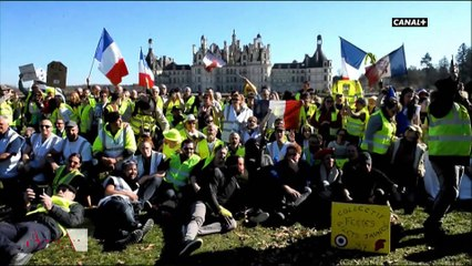 Gilets jaunes : pique-nique au château de Chambord