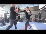 CAN KATIE TAYLOR UNIFY THE DIVISION!? - KATIE TAYLOR **FULL** WORKOUT IN NYC   TAYLOR v BUSTO