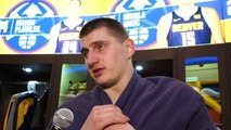 Nikola Jokic on the Thunder vs. Nuggets