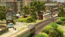 N Scale Model Train Layout - Modular Model Railroad from Germany with Diesel Locomotives | Pilentum Television - The world of model trains