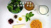 Pâtes «one pot» aux tomates séchées et aux épinards