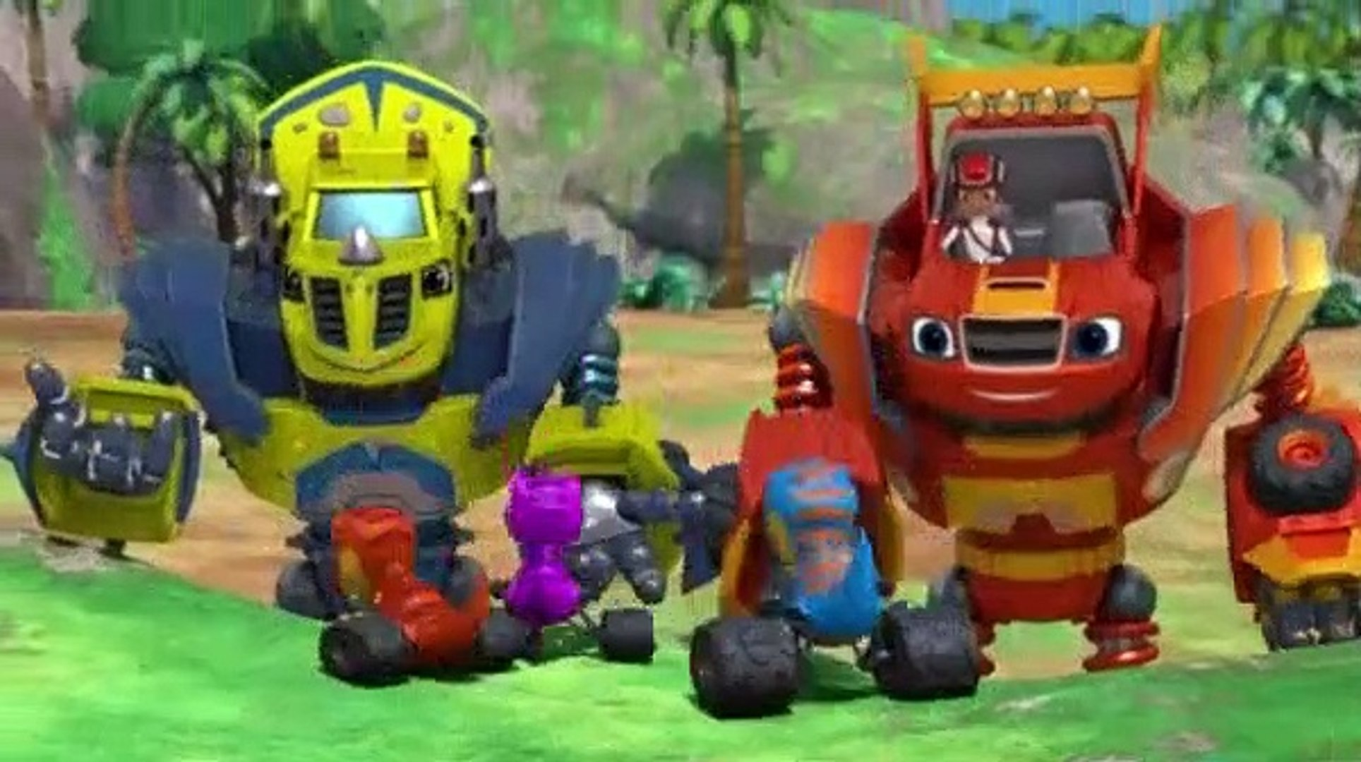 Blaze And The Monster Machines S04e07 T Rex Trouble Video