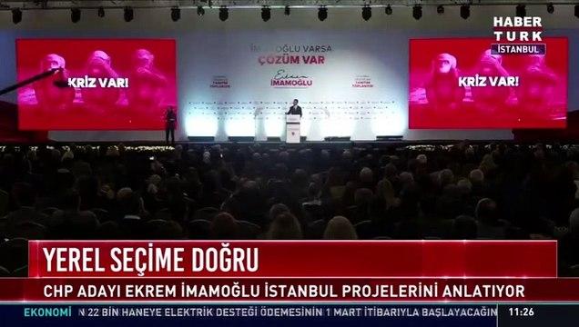 """Ekrem İmamoğlu: """"Kriz var hanımlar beyler kriz"""""""
