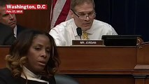 Stacey Plaskett Rolls Eyes In Frustration At Republican Jim Jordan During Cohen Hearing