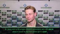 Frenkie de Jong très fier du compliment d'Antoine Griezmann