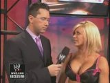 Todd Grisham interviews Ashley about being back on Raw