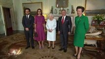 The Queen welcomes King of Jordan and Slovenian President