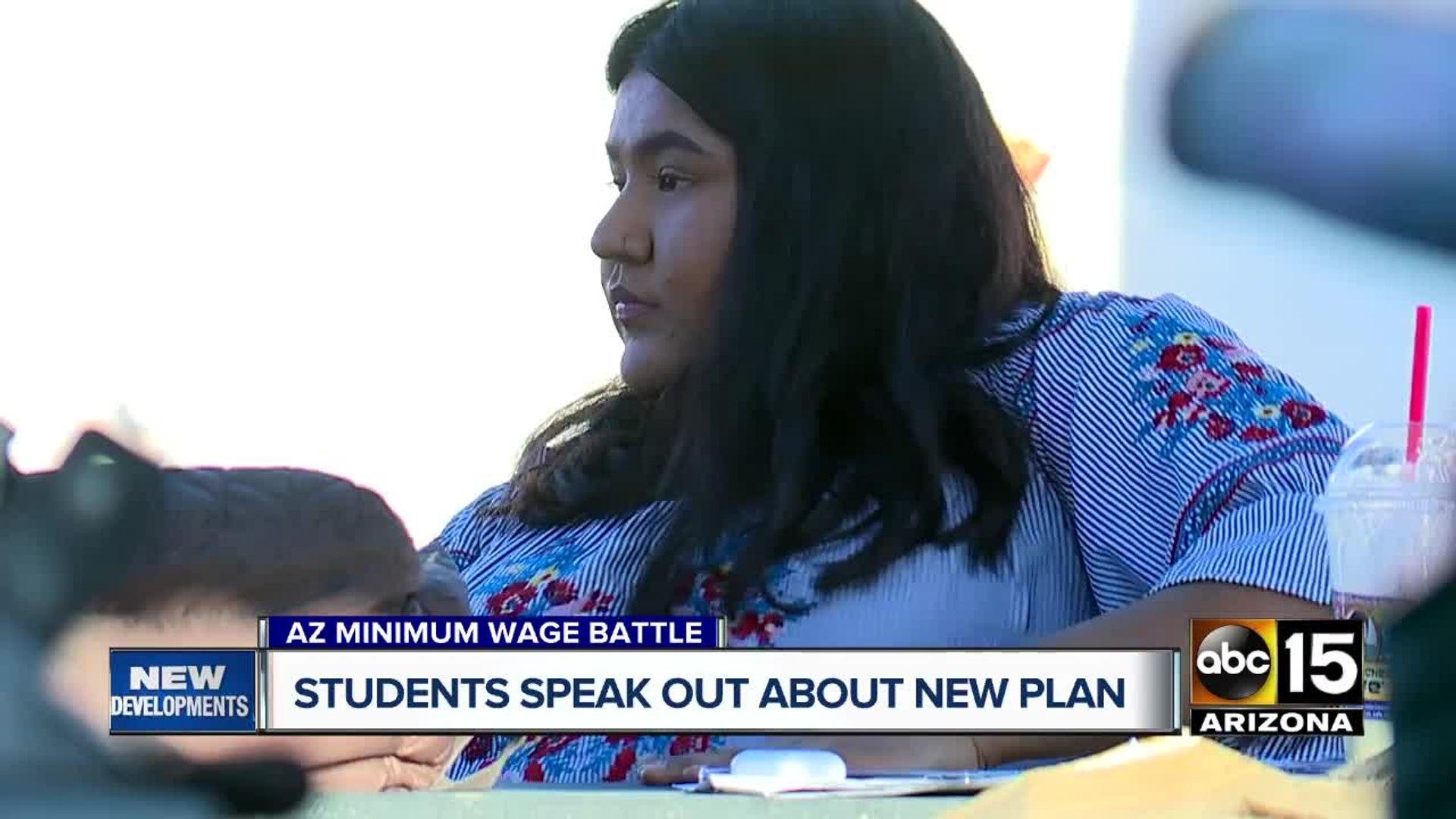 Students speak out over Arizona's new minimum wage battle