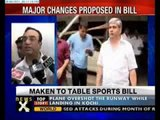 Sports Bill submitted to Cabinet: Maken