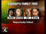 Libyan leader Muammar Gaddafi's family