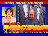 Sensex crashes 500 points