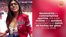 Mia Khalifa a subi une opération pour réparer son sein dégonflé par un palet de hockey projeté sur sa poitrine...