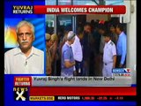 Yuvraj Singh returns to India after cancer treatment - NewsX