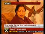 Presidential polls: Jayalalithaa seeks support for Sangma - NewsX